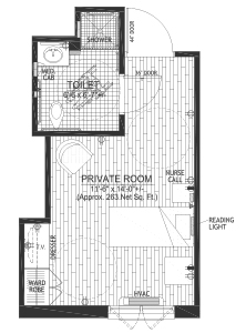 Skilled Nursing Private Floor Plan