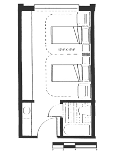Skilled Nursing Semi-private Floor Plan