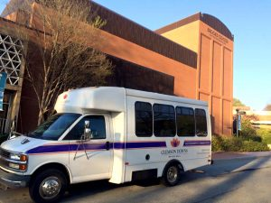 Bus at Brooks Center